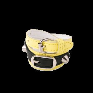 14167-bracelet-double-jaune-noir-cow-leather