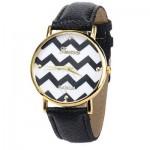 montre-femme-fantaisie-noire-et-blanche-bracelet-cuir