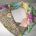 Écharpe tubulaire style snood en coton. _ Echarpe, foulard, cravate