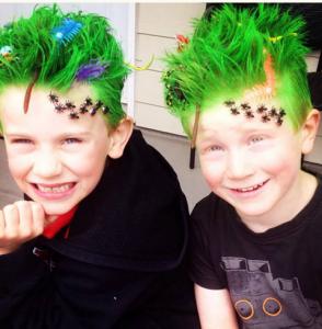cheveux verts