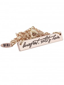 BAREFEET SALTY HAIR NECKLACE ROSE GOLD £16