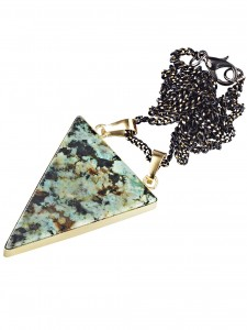 BERMUDA MYSTERY AFRICAN TURQUOISE AND GOLD NECKLACE £26