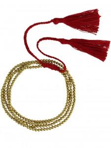 CASCADES NECKLACE OR WRAP BRACELET GOLD BURGUNDY £16