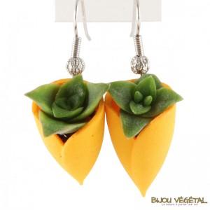 boucles-d-oreille-tulipe-jaune-avec-vegetal