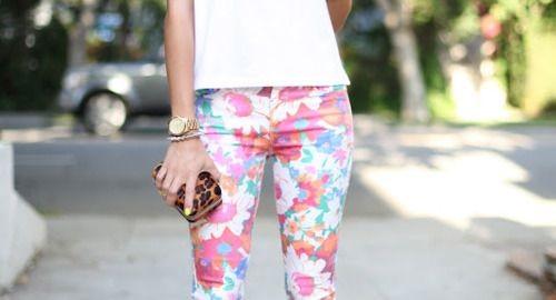 pantalon à fleurs