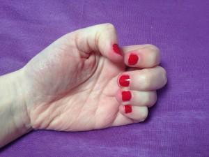 vernis rouge mollon