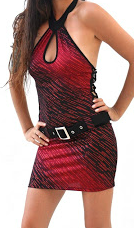 robe rouge krystyle