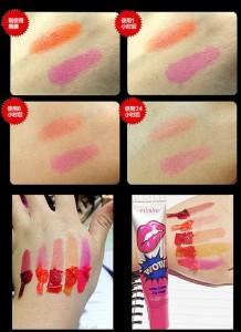 teintes rouge à lèvres