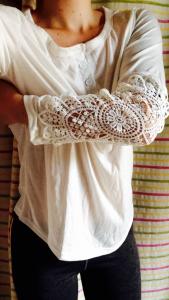 haut crochet blanc