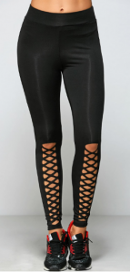 legging-lacets